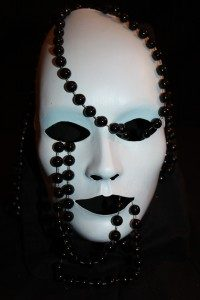 Black and white ball masquerade mask