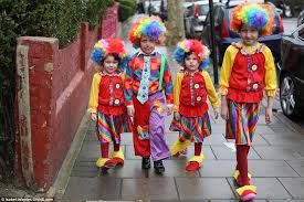 Purim clowns