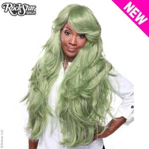 "Wigs Hologram 32"" Dark Mint Green"