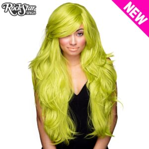 "Wigs Hologram 32"" Lime Green"