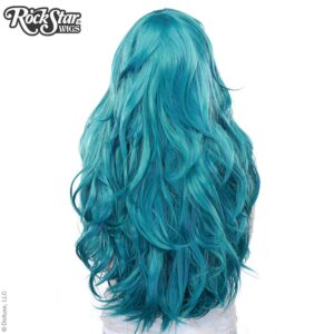 "Wigs Hologram 32"" Turquoise Mix"