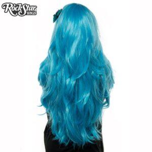 """Wigs Hologram 32"""" Aqua Mix"""