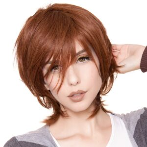 Wigs Boy Cut Long Brown