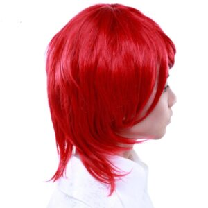 Wigs Boy Cut Long Crimson Red