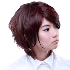 Wigs Boy Cut Dark Brown