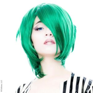 Wigs Boy Cut Long Emerald Jade Green