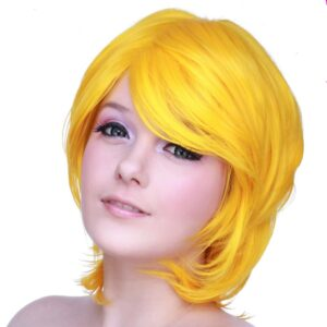 wigs Boy Cut Long Yellow