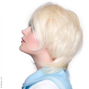 Wigs Boy Cut Long Platinum Blonde