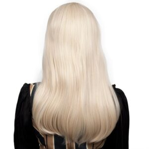 Wigs Classic Straight Blonde Back