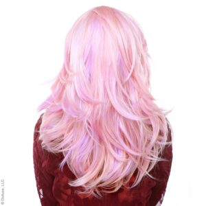 "Wig Hologram 22"" Powder Pink Fade"