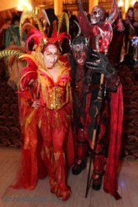 Labyrinth Masquerade Ball Goers